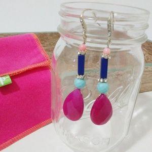 NWOT Genuine Gemstone Earrings w/ Swarovski Accent